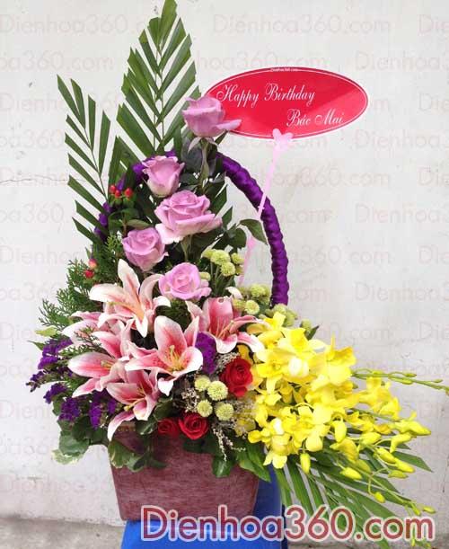 hoa 8-3, hoa dep 8-3, hoa chuc mung 8-3
