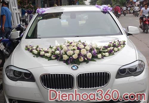 Xe hoa đẹp tại Hà Nội-xe hoa kết hoa hồng