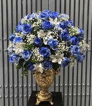 Bình hoa chúc mừng màu xanh – Dienhoa360