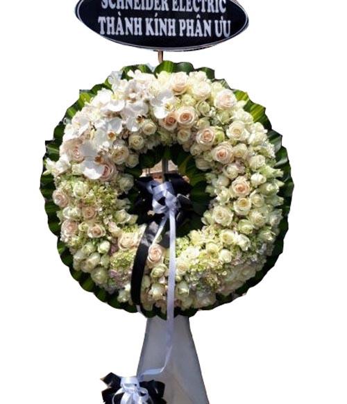 Vòng hoa đám tang đẹp