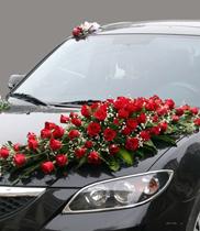 Xe hoa cưới kết hoa hồng đỏ