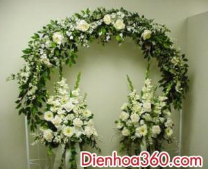 Trang tri cong hoa cuoi, cong hoa dep