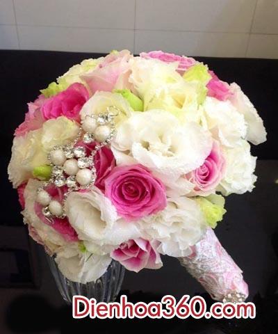 hoa cam tay co dau dep nhat, wedding flower