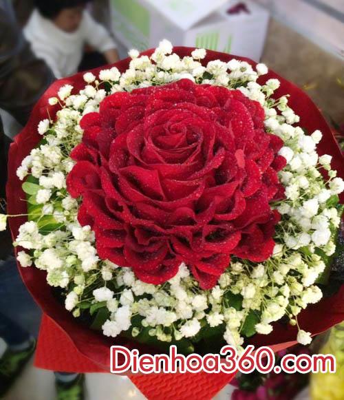 Bó hoa hồng một bông