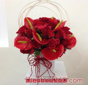hoa van phong, mau hoa dinh ky dep re