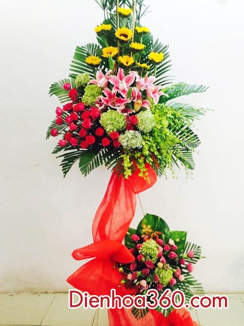 Điện hoa chúc mừng – kệ hoa đẹp