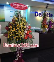 Điện hoa, hoa chúc mừng Deloitte kỷ niệm 25 năm thành lập