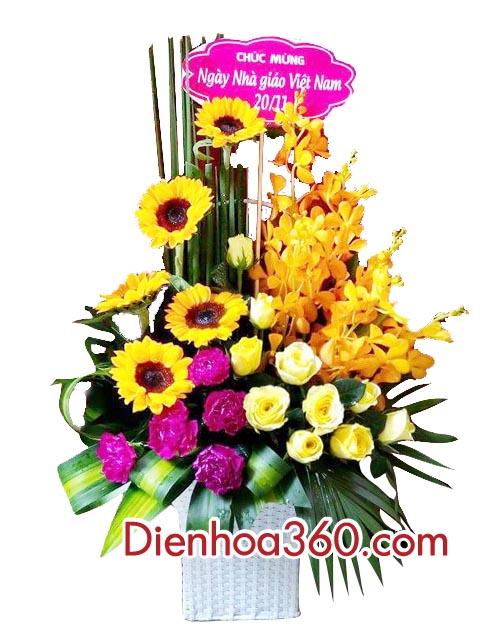 Giỏ hoa tặng cha, quà tặng ngày của cha