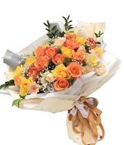 Hoa sinh nhật hoa hồng cam Dienhoa360