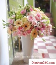 Hoa chúc mừng khai trương – Bình hoa