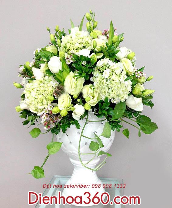 hoa chuc mung - binh hoa tuoi