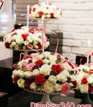 Cách cắm hoa tươi và nến