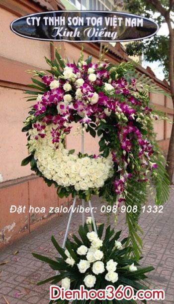 Vòng hoa chia buồn CB50