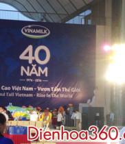 Lãng hoa chúc mừng kỷ niệm 40 năm Vinamilk