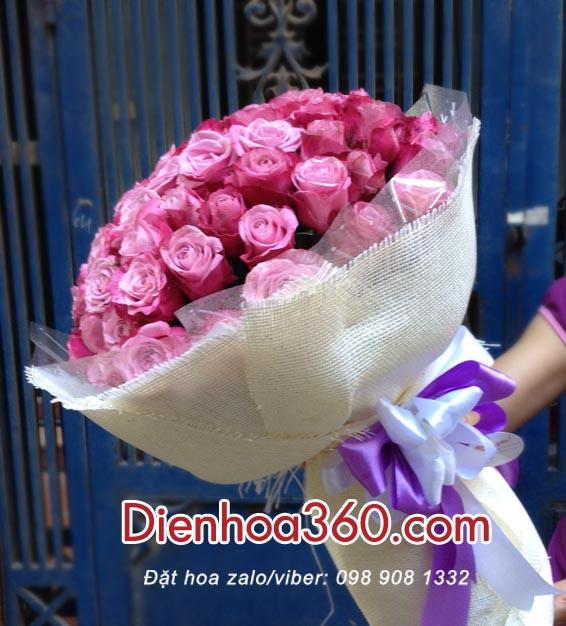 hoa sinh nhat, hoa hong tim 1