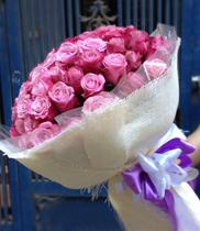 Bó hoa sinh nhật đẹp – hoa hồng tím