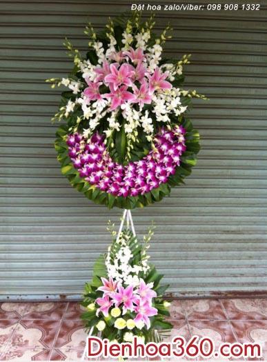 Vòng hoa chia buồn CB48