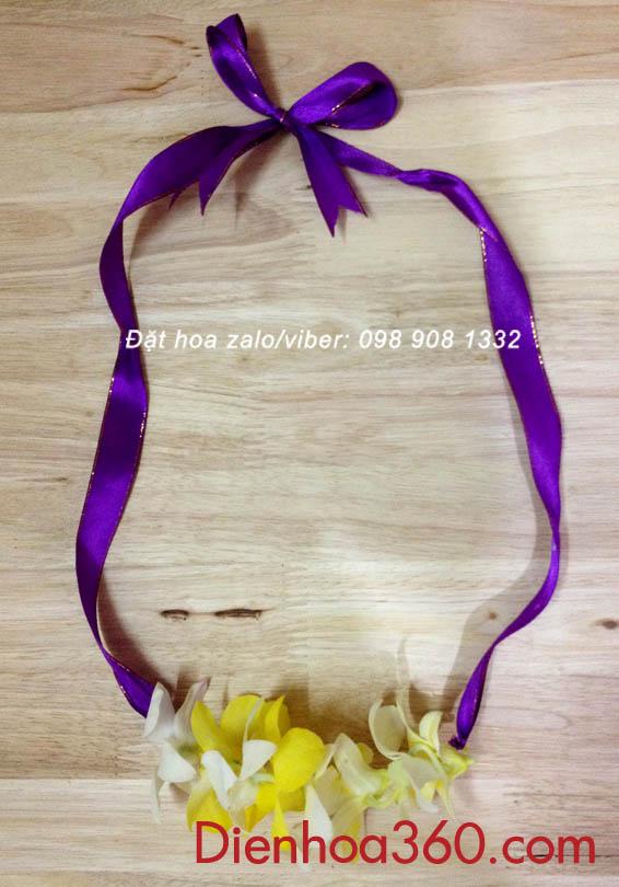 Vòng hoa đeo cổ-vòng hoa đón đại biểu