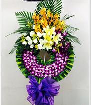 Vòng hoa chia buồn lan tím