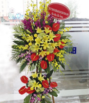 Dịch vụ giao hoa tận nơi khi khách hàng đặt hoa chúc mừng khai trương nhà máy