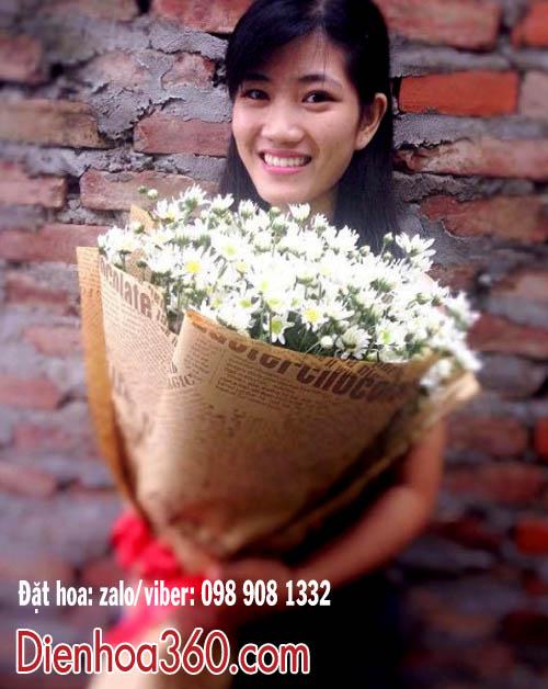 bó hoa cúc họa mi đẹp