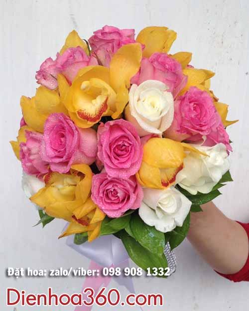 Hoa cưới địa lan – hoa cầm tay cô dâu địa lan