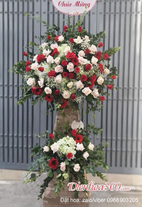 Lãng hoa khai trương hoa hồng