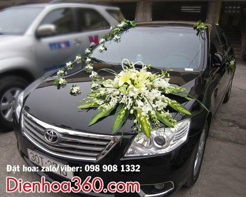 Xe hoa rẻ đẹp nhất Hà Nội – hoa ly – hoa lan trắng