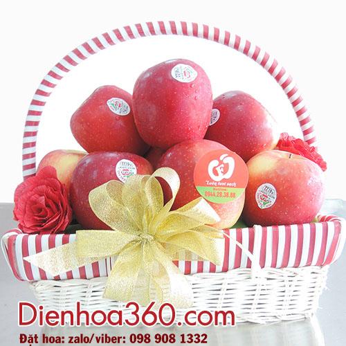 Giỏ táo – giỏ hoa quả đẹp