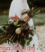 Ngập tràn hoa tươi trong album ảnh cưới và hoa cưới của đôi bạn trẻ