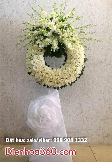 Hoa đám tang màu trắng-vòng hoa đám tang trắng