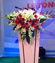 Hoa bục phát biểu | hoa phòng họp