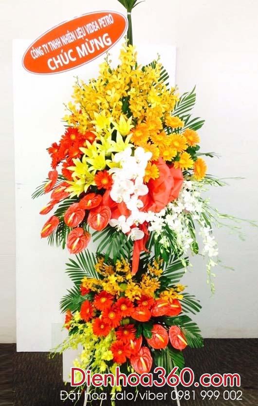 hoa chuc mung, dien hoa khai truong send flower