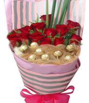 Hoa tặng ngày Valentine đẹp-socola