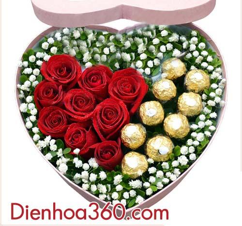 mau hoa tang Valentin dep, hoa tang nguoi yeu