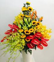 Bình hoa sang trọng | Bình hoa tặng sếp | Bình hoa đẹp tặng sinh nhật