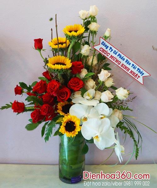 Bình hoa tươi   hoa chúc mừng sinh nhật   quà tặng sinh nhật