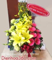 Giỏ hoa đẹp tặng sinh nhật – Những mẫu giỏ hoa đẹp nhất