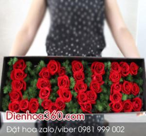 Hộp hoa hồng đẹp | hộp hoa chữ love