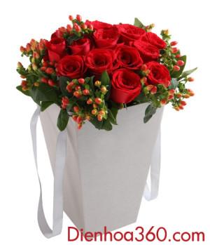 Hộp hoa hồng đỏ, Hoa valentine