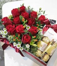 hộp hoa hồng socola tặng Valentine 1402