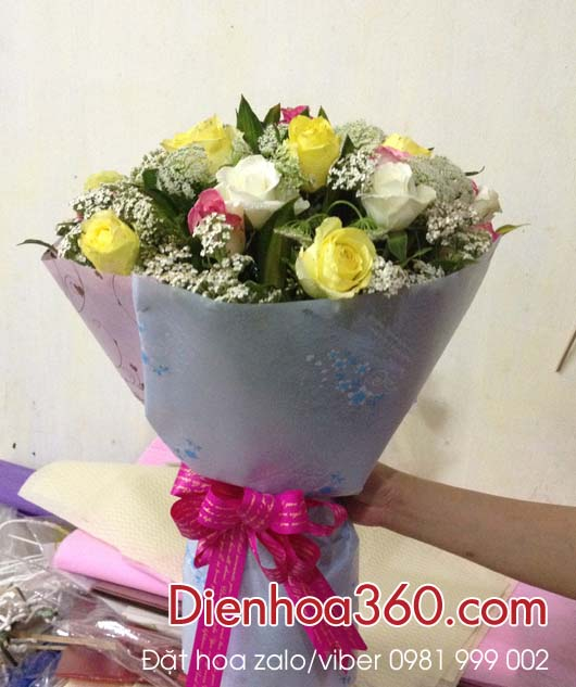 bo hoa tang tan gia, hoa dep