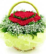 Giỏ hoa hồng tim | hoa tươi | giỏ hoa sinh nhật