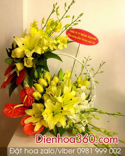 gio hoa ly, hoa tang ngay 8-3, hoa tuoi 8-3