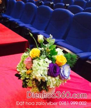 Hoa để bàn | Hoa để bàn lễ tân | Mẫu hoa để bàn
