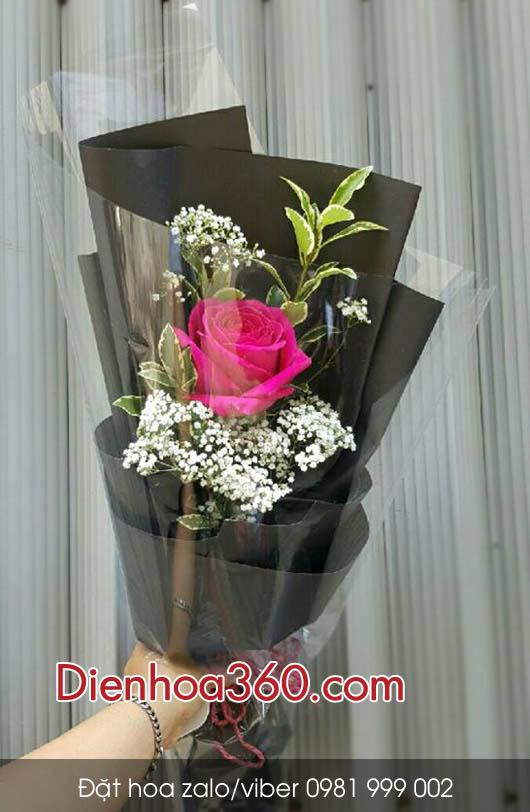 hoa hong 1 bong, hoa gia re