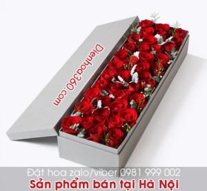 Hộp hoa hồng đỏ   hoa sinh nhật đẹp