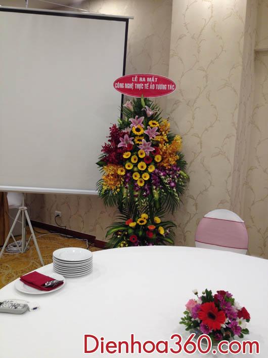 Lãng hoa chúc mưng khai trương, chúc mừng triển lãm, hoa tươi