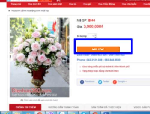 Hướng dẫn thanh toán khi đặt điện hoa
