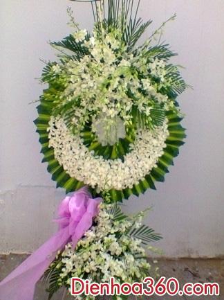 Vòng hoa viếng, hoa tươi tang lễ, hoa đám ma